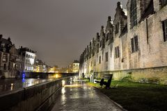 The historic meat house in Ghent Stock Photo