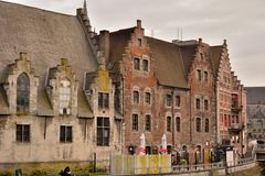 The historic meat house in Ghent Stock Image