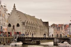 The historic meat house in Ghent Stock Images