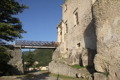 Fiumefreddo bridge. The historic medieval castle at fiumefreddo del bruzio in south italy royalty free stock photo