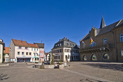 Historic medieval market place Stock Photo