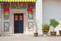 The historic meeting of the Chinese. In Thailand royalty free stock photography