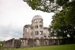 Historic memorial place at Hiroshima in Japan. The Atomic Bomb Dome,named Genbaku Dome, is the Historic memorial place at Hiroshima in Japan Royalty Free Stock Photography