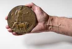 World War 1 Memorial plaque for soldier who died in 1916 Royalty Free Stock Photography