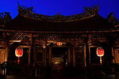 Historic Mengjia Longshan Temple in Taipei, Taiwan Stock Photo