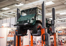 Historic Mercedes Benz UNIMOG Typ U 411. At the 65th IAA Commercial Vehicles Fair 2014 in Hannover, Germany Stock Photo