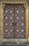 Historic metal door of the church. Stock Photos