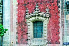 Historic Mexico City Building. Details of a vivid historic building in Mexico City Stock Photos