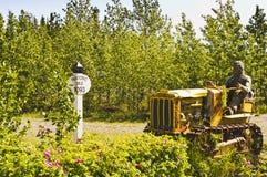 Historic Mile 1093 on Alaska Highway royalty free stock photos