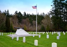 Historic Military Cemetery Stock Photo