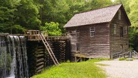 Historic Mill. Historic Mingus Mill in the Great Smoky Mountains National Park stock video