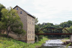 Historic Mill. The historic Motor Mill along the Turkey River near Elkader, Iowa royalty free stock image