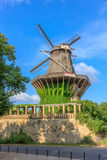 The historic mill - view from the botanical garden Royalty Free Stock Photography