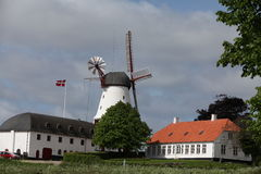 Historic mill. Windmill previous centre of famous battle Stock Photos