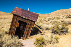 Historic Mining Outhouse in Sierra Nevada Ghost Town Stock Image
