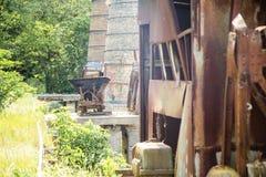 Historic mining rail cart Royalty Free Stock Photo