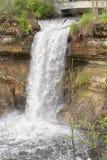 Historic Minnehaha Falls Minnesota Stock Photo