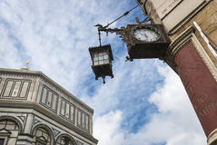Historic and modern architectural elements In Florence landscape royalty free stock images