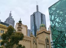 Historic and modern architecture in the center of Melbourne Stock Photo