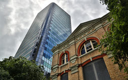 Historic and Modern Building in Auckland, New Zealand Stock Image