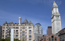 Historic and modern buildings in  Boston Mass. Historic and modern buildings in city Boston Mass  USA Stock Photography