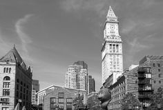 Historic and modern buildings in city Boston Royalty Free Stock Photos