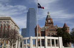 Historic and modern buildings in city Dallas Stock Images