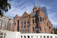 Historic and modern buildings in city Dallas TX Stock Photography