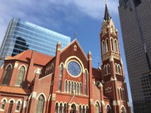 Historic and modern buildings in Dallas Royalty Free Stock Images