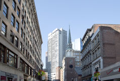 Historic and modern buildings in downtown  Boston Stock Image