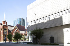 Historic  and modern buildings in downtown Dallas Stock Photography