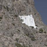 Historic monastery on cliffs royalty free stock photos