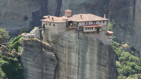 Historic Monastery of Meteora, Greece stock footage