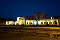 Historic Monastery at Night Stock Photography