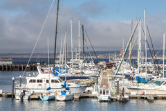 Historic Monterey Harbor and Marina Royalty Free Stock Photos