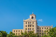 Historic monument building in la Havana Cuba.  Royalty Free Stock Images