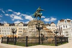 Historic monument of famous Ukrainian Hetman Bogdan Khmelnitsky Royalty Free Stock Images