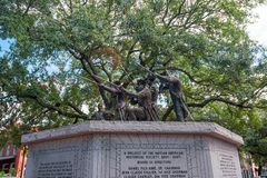 Historic monument in public park in oldtown Savannah. Georgia in USA Royalty Free Stock Images