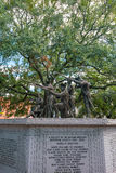 Historic monument in public park in oldtown Savannah Royalty Free Stock Photos