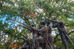 Historic monument in public park in oldtown Savannah. Georgia in USA Stock Photos