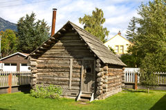 Historic Moore Cabin in Skagway, Alaska Royalty Free Stock Image