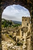 Historic Moorish Castle in Sintra Royalty Free Stock Photography