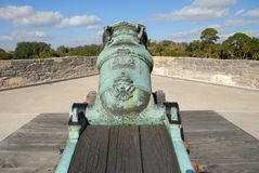 Historic mortar cannon  Royalty Free Stock Images