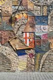 Historic mosaic at a town-wall in Cochem Royalty Free Stock Photo