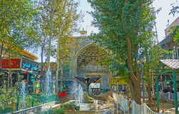 Historic Mosque in heart of Tehran Grand Bazaar Royalty Free Stock Photography
