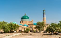 Historic mosque at Itchan Kala fortress in the historic center of Khiva. UNESCO world heritage site in Uzbekistan Stock Images