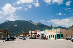 Historic Mountain Mining Town Stock Image