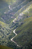 Historic mountain pass, Western Cape, South Africa royalty free stock photo