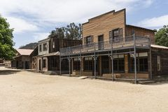 Old California Western Town Street Movie Set. Historic movie set street owned by US National Park Service at Paramount Ranch now part of the Santa Monica Stock Photo