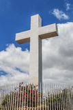 Historic Mt. Helix Cross Surrounded by Fence Railing Royalty Free Stock Photos